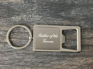 Father of the Groom Gift, Grooms Father Keychain, Grooms Father Gift, Bottle Opener Keychain - Infinity Collection