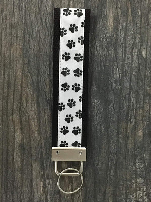 Paw Print Keychain, Pet Lover Gift, Dog Keychain, Cat Keychain, Paw Print FOB Keychain Makes Perfect Gift for Dog or Cat Owners