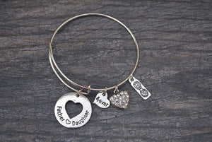 Father Daughter Jewelry- Daddy Girl Jewelry- Father Daughter Gifts - Infinity Collection