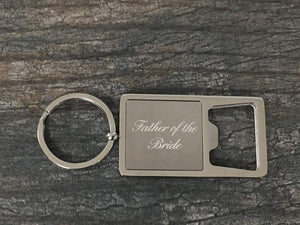 Father of the Bride Gift, Brides Father Keychain, Brides Father Gift, Bottle Opener Keychain, Perfect Gift for Father of the Bride - Infinity Collection