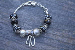 40th Birthday Gifts for Women, 40th Birthday Charm Bracelet, 40th Birthday Ideas, Gift for Her - Infinity Collection
