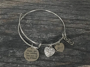 Mother in Law Gift, Mom Bangle Bracelet- Mom Jewelry, Perfect Gift for Mother of the Groom