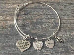 Best Friends Bracelet-Side By Side or Miles Apart Friends are Close at Heart- Friend Jewelry- Perfect Gift for Friends - Infinity Collection