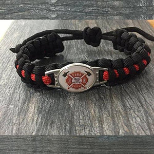 Firefighter Paracord Bracelet - Infinity Collection