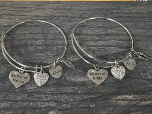 Mother of the Bride & Mother of the Groom Gift Set - Mother of the Bride Bracelet & Mother of the Groom Bangle Bracelets, Perfect Wedding Party Gifts