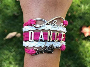Girls Dance Bracelet - Pink White - Infinity Collection