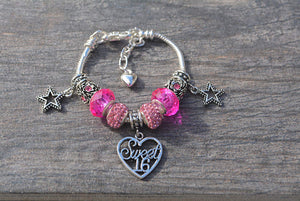 Sweet 16 Bracelet- Girls Sweet 16 Jewelry - Perfect Birthday Gift For Girls Sixteenth Birthday - Infinity Collection