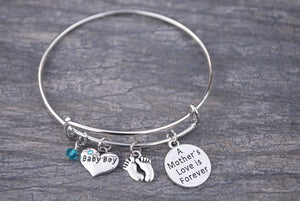 Mom Bracelet, Mom Son Charm Bracelet Makes the Perfect New Mom Gift, Baby Shower Gift or Baby Gift