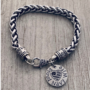 Personalized Life is Better at the Lake Bracelet, Lake Jewelry with Letter Charm - Infinity Collection
