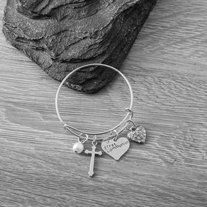First Communion Bracelet, First Communion Gifts, Girls First Communion Jewelry- Girls Cross Bracelet- Makes the Perfect Gift For 1st Communion - Infinity Collection