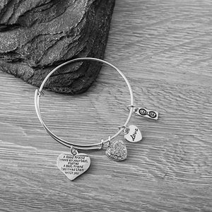Friendship Bracelet, Good Friend Knows All Your Best Stories, A Best Friend Has Lived Them With You Bangle Bracelet - Infinity Collection