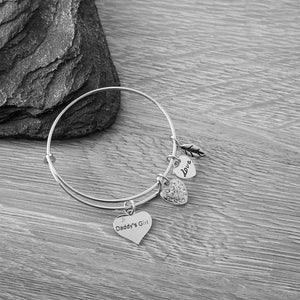 Daddy's Little Girl Charm Bracelet - Daddy Girl Jewelry- Daddies Girl Bangle, Perfect Gift for Dad's Little Girl - Infinity Collection