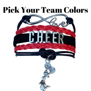 Cheer Bracelet - Pick Team Colors - Infinity Collection