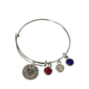 Airforce Wife Bangle Bracelet - Infinity Collection
