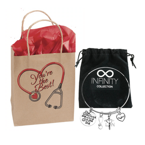 LPN Bracelet & Gift Bag Set, Nurse Gift, She Believed She Could So She Did - Infinity Collection