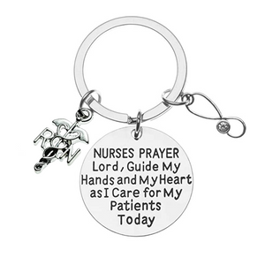 Nurse Prayer Keychain - Pick Charm - Infinity Collection