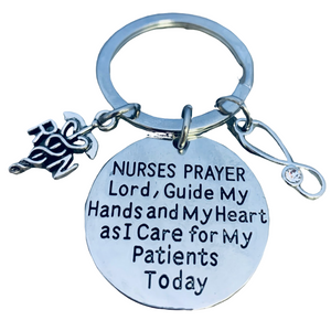 Nurse Prayer Keychain - RN - Infinity Collection