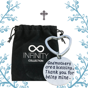 Godmother Keychain, Godmothers Are Blessings Jewelry - Infinity Collection