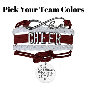 Cheer Bracelet- She Believed She Could - Infinity Collection