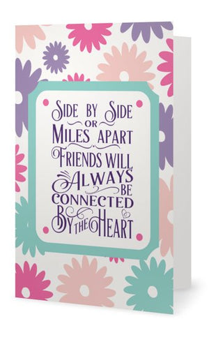 Friend Card - Friends Will Always Be Connected By The Heart