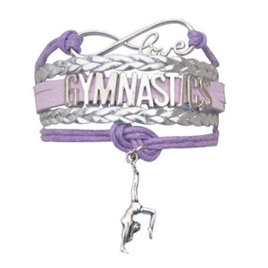 Girls Gymnastics Infinity Bracelet- 13 Colors - Infinity Collection
