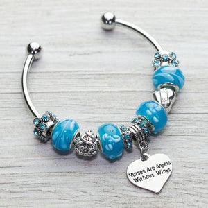 Nurse Beaded Nurse Are Angels Without Wings Charm Bracelet - Infinity Collection