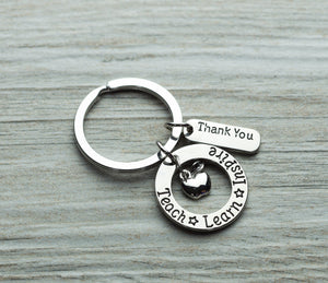Teach Learn Inspire Keychain - Infinity Collection
