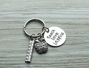 Teach Love Inspire Keychain - Infinity Collection