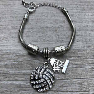 Volleyball #1 Mom Charm Bracelet - Infinity Collection
