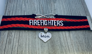 mom Firefighter Bracelet