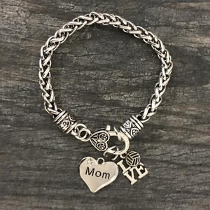 Volleyball Mom Charm Bracelet - Infinity Collection