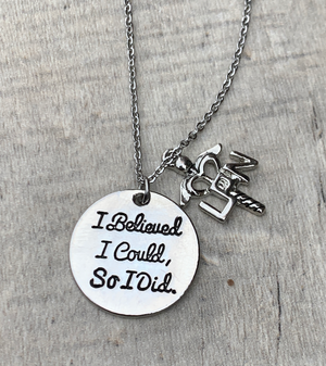 LPN Necklace - I Believed I Could So I Did Necklace - Infinity Collection