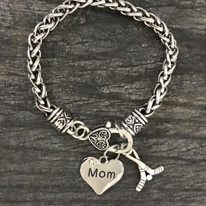 Hockey Mom Charm Bracelet - Infinity Collection