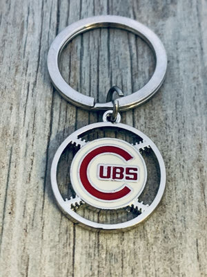 Chicago Cubs Baseball Keychain - Infinity Collection