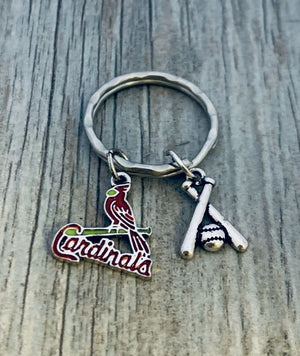 St. Louis Cardinals Baseball Keychain - Infinity Collection