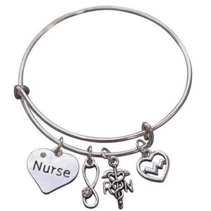 Nurse Charm Bangle Bracelet - Infinity Collection