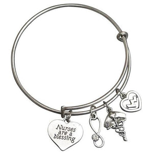 Nurse Blessing Bangle Bracelet - Infinity Collection