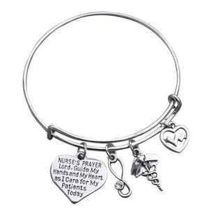 Nurse Prayer Bangle Bracelet - Infinity Collection