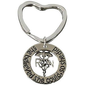Nurse She Did Heart Keychain - Infinity Collection