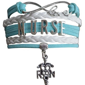 Nurse Infinity Bracelet - Teal - Infinity Collection