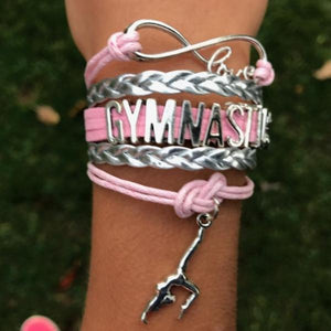 Gymnastics Infinity Charm Bracelet - Pink - Infinity Collection