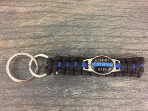 Keep My Police Officer Safe Keychain - Infinity Collection