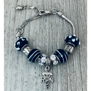 Nurse Beaded Charm Bracelet - Infinity Collection