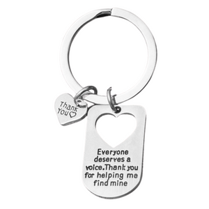 Speech Therapist Keychain - Speech Pathology Language
