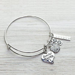 Special Teacher Bangle Bracelet - Infinity Collection