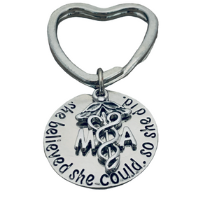 Medical Assistant Keychain, She Believed She Could So She Did Nurse Gift - Infinity Collection