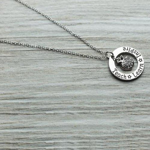 Teach Learn Inspire Necklace - Infinity Collection