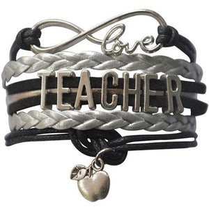 Teacher Infinity Black Bracelet - Infinity Collection