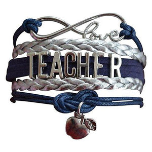 Teacher Infinity Bracelet - Navy - Infinity Collection