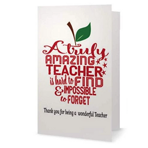 Teacher Card - Truly Amazing Teacher